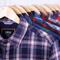 Kemeja Baju Flanel Pria Lengan Panjang Kotak Kotak Cewek Cowok Murah