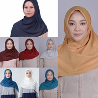 Hijab Jilbab ZOYA Plain Scarf - Kerudung Segi Empat Original Polos