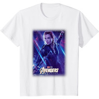 Kaos Anak Marvel Avengers Endgame Black Widow Galactic Poster T-Shirt