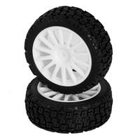 C8039 Ban RC Rally Tire (Pre-mounted, 2 pcs) - LC RACING PTG-2 RALLY