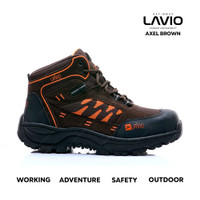 Sepatu Safety Boots Shoes Ujung Besi Lavio Axel Premium Original