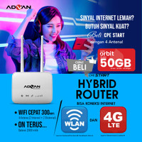 Unlock Hybrid Modem Router Advan CPE Start 4G LTE Garansi Resmi Jogja