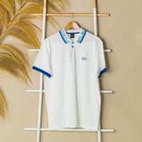 Kaos HUGO BOSS Collar Blue White Polo 100% ORIGINAL - L