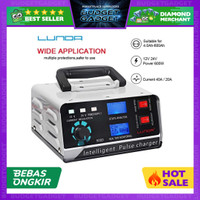 ANJING Charger Aki Mobil Motor 400W 12V/24V 400Ah + LCD - AJ-618A