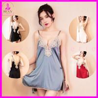 Lingerie Babydoll Baju Tidur Sexy untuk Wanita Dewasa Satin Lace SL-41