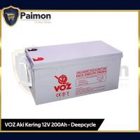 Voz 12V 200 Ah Deep Cycle  Aki Kering VRLA 12V 200 Ah Voz Baterai