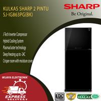 KULKAS 2 PINTU SHARP SJ-IG863 PG-BK HITAM