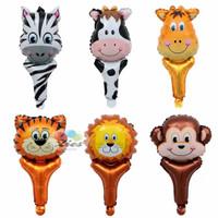 balon foil pentungan animal head / balon tongkat kepala hewan