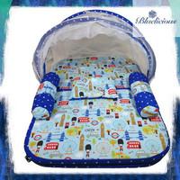 Kasur Lipat Kelambu Bayi - Matras Baby - Motif London