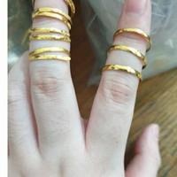 Cincin mas kuning emas asli murni 1gram 1 gram 1gr 24k 24 karat 99%