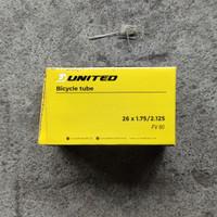 Ban Dalam Sepeda 26 x 1.75 / 2.125 26 x 175 United Fresta 60MM Kecil