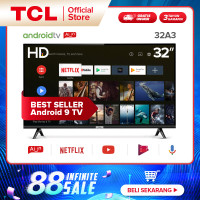 TCL 32 Inch Android Smart LED TV HD Google AI & Dolby Audio (32A3)
