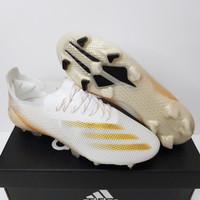Sepatu Bola Soccer Adidas X Ghosted.1 Inflight White Metallic Gold FG