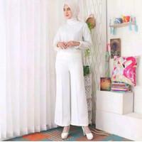 Celana Wanita Kulot Basic Scuba Premium Tebal dan Tidak Trawang