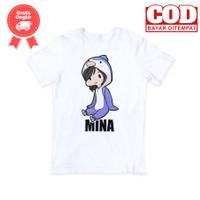 Kaos KPOP Twice Mina Karakter - Putih, S