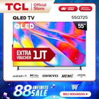 TCL 55-inch QLED Android 11 TV 4KUHD-Dolby-MEMC-HFVC 2.0-Onkyo 55Q725