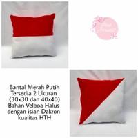 Bantal Merah Putih | Souvernir Bantal - 30x30cm