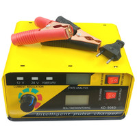 LUNDA Charger Aki Mobil Motor 240W 12V/24V 400AH with LCD - KD-908D -
