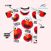 Kaos Baju Anak Karakter Elmo Merah Fullprint PREMIUM Cotton combed 30s