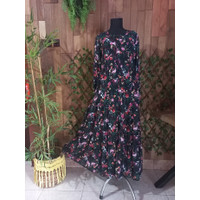 Gamis Full Kancing Motif Bunga (Almeera_Butik_Kajen Dress)