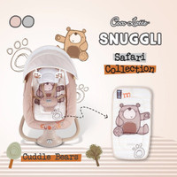 baby swing electric Cocolatte Snuggli Safari Collection - Abu-abu
