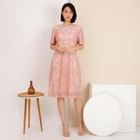 Model Baju Dress Brokat Wanita Atasan Premium Cantik Terbaru -2108