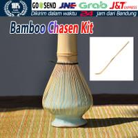 PAKET LENGKAP Chasen Bamboo Whisk / Pengaduk Matcha Bambu / Original - 3PCS/Set