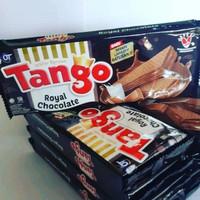 wafer tango 130 gram rasa coklat vanila ecer / grosir per dus - rasa Coklat