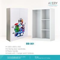 Lemari Pakaian Anak / Lemari Besi 2 Pintu Avery - BB001