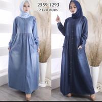 Long Dress/Long Dress Bahan Jeans Wash Premium/Baju Ibu hamil