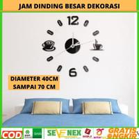 Jam Dinding Jumbo Besar Dekorasi Ruangan Diameter 40cm sampai 70 cm