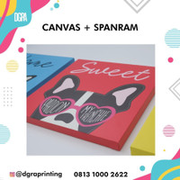 Cetak Foto Kanvas + Spanram Ukuran 30 x 30 cm