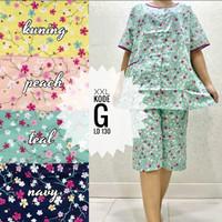 Piyama Size XXL Baby Doll Kulot Katun Lokal Busui Bumil Jumbo Pajamas