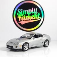 auto world 1/64 1993 toyota supra silver loose diecast ban karet