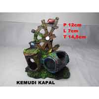 Hiasan Aquascape Aquarium Kapal Karam / Dekorasi Aquascape Bawah Laut