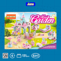 Mainan Bricks Mini Garden 6in1 Compatible Lego Friends | Juno 8612-1A - 1 Box