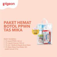 Pigeon Paket Hemat Botol PP Wide Neck 160 ml Paket Perlengkapan Bayi