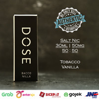 DOSE by HEX Bacco Nilla Salt Nic 50mg 30ml Authentic