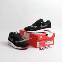 Sepatu Nike Air Max 1 Black Oil Grey Red