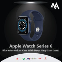 Apple Watch Series 6 40mm Blue Alumunium Case With Deep Navy Sportband