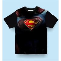 Baju Anak Kaos Anak Laki-Laki SUPERMAN MOVIE - Hitam - S - Hitam, S