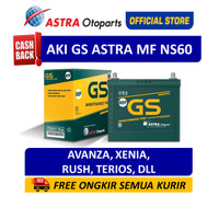 GS ASTRA MF NS60 Aki Mobil Toyota Avanza, Rush, Daihatsu Xenia, Terios