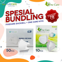 SPECIAL BUNDLING Fivecare Surgical Duckbill & ONECARE KN95