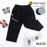 Celana Distro Anak Laki-Laki Long Cargo Black Kids Exclusive - L, Hitam