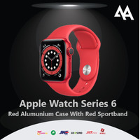 Apple Watch Series 6 44mm GPS Red Alumunium Case With Red Sportband