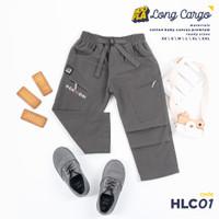 Celana Distro Anak Laki-Laki Long Cargo Gray Kids Exclusive - XS, Abu-abu