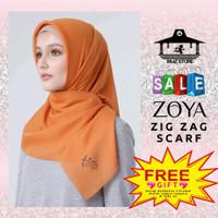 Kerudung Hijab Jilbab Segi Empat Polos Zig Zag Scarf Fatin For Zoya