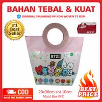 Tas Ultah BT21 Pink Pegangan Bulat Goodie Bag Souvenir BT21 Unik