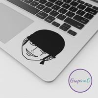 One Piece Zoro Anime Decal Sticker Macbook Apple Anime Stiker Laptop