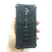 Oppo A5 / A9 Hardcase Armor Transformer Magnetic Casing Oppo A5 2020 / - Hitam